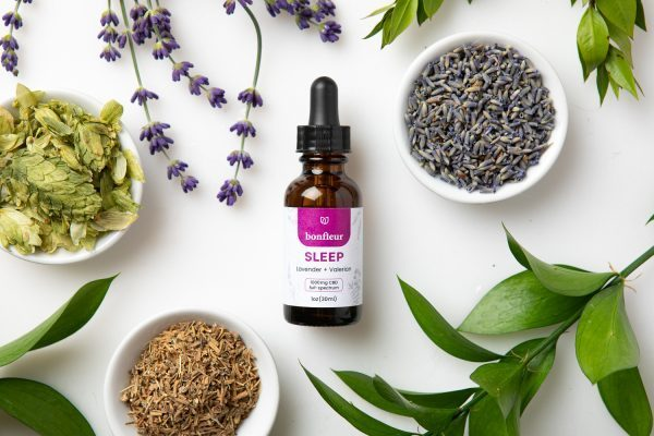 bonfleur sleep cbd tincture lavender valerian full-spectrum